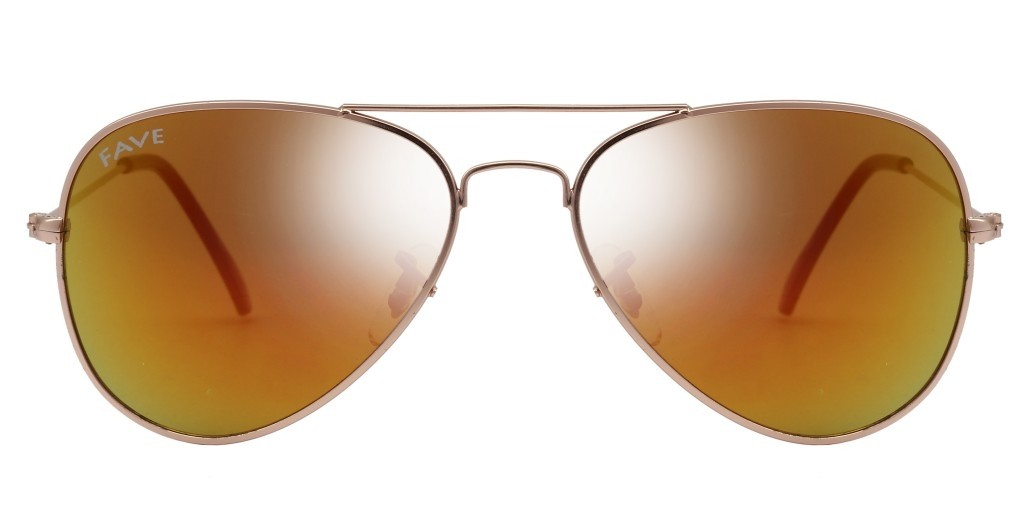 FAVE Desert Mirror Unisex Fashion Flyer Sunglass